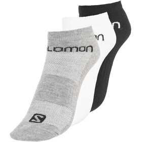 Salomon Life Low Socks 3 Pack white + black + grey